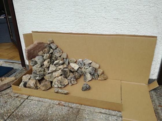 Steinaufbau 1meter becken